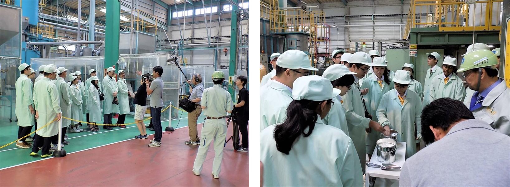 協栄産業 ジャパンテック ペットボトル PETボトル リサイクル ボトルtoボトル 工場見学 水平リサイクル アングロ・チャイニーズ・インデペンデント シンガポール 修学旅行 小山市 インバウンド NHKワールドJAPAN Biz Stream 取材